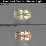 thumb image of 1.1ct Cushion-Cut Very Light Yellow Color-Change Diaspore (ID: 388712)