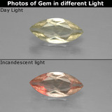 thumb image of 1.1ct Marquise Facet Green/Pink Color-Change Diaspore (ID: 388756)