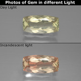 thumb image of 1.4ct Cushion-Cut Green/Pink Color-Change Diaspore (ID: 388795)