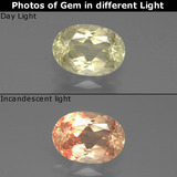 thumb image of 1ct Oval Facet Green/Pink Color-Change Diaspore (ID: 388899)