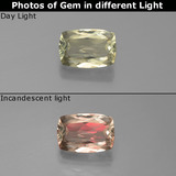 thumb image of 1ct Cushion-Cut Green to Pink Color-Change Diaspore (ID: 388984)