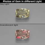thumb image of 0.9ct Cushion-Cut Green to Pink Color-Change Diaspore (ID: 388991)