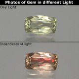 thumb image of 1.1ct Cushion-Cut Green/Pink Color-Change Diaspore (ID: 389045)