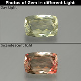 thumb image of 1.1ct Cushion-Cut Green/Pink Color-Change Diaspore (ID: 389055)