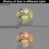 thumb image of 0.8ct Oval Facet Green/Pink Color-Change Diaspore (ID: 389144)