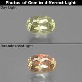 thumb image of 0.7ct Oval Facet Green/Pink Color-Change Diaspore (ID: 389146)