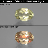 thumb image of 0.7ct Oval Facet Green/Pink Color-Change Diaspore (ID: 389148)