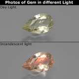 thumb image of 0.8ct Pear Facet Green/Pink Color-Change Diaspore (ID: 389252)