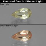thumb image of 0.9ct Pear Facet Green/Pink Color-Change Diaspore (ID: 389254)