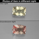 thumb image of 0.9ct Cushion-Cut Green/Pink Color-Change Diaspore (ID: 389313)