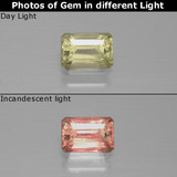 thumb image of 0.7ct Octagon Facet Green/Pink Color-Change Diaspore (ID: 389930)