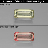 thumb image of 1.2ct Octagon Facet Green/Pink Color-Change Diaspore (ID: 390082)