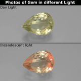 thumb image of 3.2ct Pear Facet Green/Pink Color-Change Diaspore (ID: 390226)