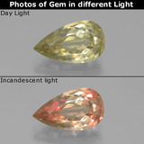 thumb image of 3.3ct Pear Facet Green to Pink Color-Change Diaspore (ID: 390227)