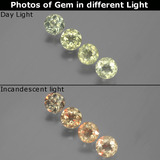 thumb image of 2.2ct Round Facet Green/Pink Color-Change Diaspore (ID: 390564)