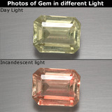 thumb image of 2.2ct Octagon Facet Green/Pink Color-Change Diaspore (ID: 390678)