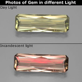 thumb image of 6.7ct Octagon / Scissor Cut Green/Pink Color-Change Diaspore (ID: 391064)