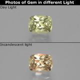thumb image of 1.2ct Cushion-Cut Green/Pink Color-Change Diaspore (ID: 392425)