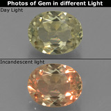 thumb image of 1ct Oval Facet Green/Pink Color-Change Diaspore (ID: 392428)