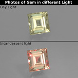 thumb image of 0.6ct Square Facet Green/Pink Color-Change Diaspore (ID: 393887)