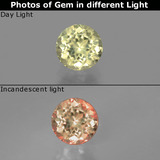 thumb image of 0.7ct Round Facet Green/Pink Color-Change Diaspore (ID: 393949)