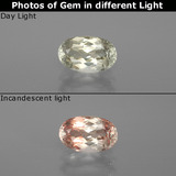 thumb image of 1.1ct Oval Facet Green/Pink Color-Change Diaspore (ID: 394627)