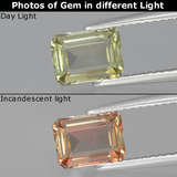 thumb image of 1.3ct Octagon Facet Green/Pink Color-Change Diaspore (ID: 394752)