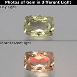 thumb image of 1.3ct Cushion-Cut Green/Pink Color-Change Diaspore (ID: 394754)