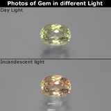 thumb image of 1ct Oval Facet Green/Pink Color-Change Diaspore (ID: 394961)