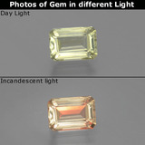 thumb image of 1.2ct Octagon Facet Green/Pink Color-Change Diaspore (ID: 394966)