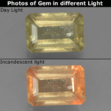 thumb image of 1.2ct Octagon Step Cut Green to Pink Color-Change Diaspore (ID: 395415)