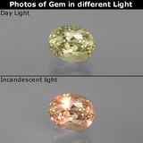 thumb image of 1ct Oval Facet Green/Pink Color-Change Diaspore (ID: 395667)