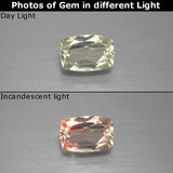 thumb image of 0.9ct Cushion-Cut Green/Pink Color-Change Diaspore (ID: 396336)