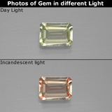 thumb image of 0.9ct Octagon Facet Green/Pink Color-Change Diaspore (ID: 396338)