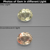 thumb image of 1ct Oval Facet Green/Pink Color-Change Diaspore (ID: 396340)