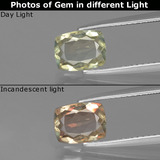 thumb image of 1.1ct Cushion-Cut Green/Pink Color-Change Diaspore (ID: 396419)