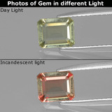 thumb image of 0.9ct Octagon Facet Green/Pink Color-Change Diaspore (ID: 396488)