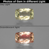 thumb image of 1.2ct Cushion-Cut Green to Pink Color-Change Diaspore (ID: 396546)