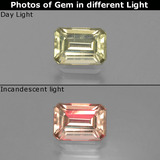 thumb image of 1.1ct Octagon Facet Green/Pink Color-Change Diaspore (ID: 396549)