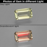 thumb image of 1.2ct Octagon Facet Green/Pink Color-Change Diaspore (ID: 396648)
