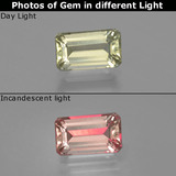 thumb image of 1.1ct Octagon Facet Green/Pink Color-Change Diaspore (ID: 397015)