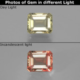 thumb image of 1ct Octagon Facet Green/Pink Color-Change Diaspore (ID: 397024)