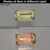 thumb image of 1.1ct Octagon Facet Green/Pink Color-Change Diaspore (ID: 397065)