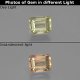 thumb image of 1.1ct Octagon Facet Green/Pink Color-Change Diaspore (ID: 397187)