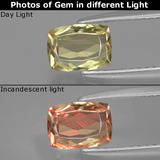 thumb image of 1ct Cushion-Cut Green/Pink Color-Change Diaspore (ID: 397442)
