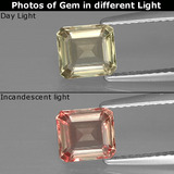thumb image of 1.2ct Octagon Facet Green/Pink Color-Change Diaspore (ID: 397449)