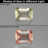 thumb image of 1.3ct Octagon Facet Light Yellow Color-Change Diaspore (ID: 397459)