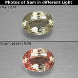 thumb image of 1ct Oval Facet Green/Pink Color-Change Diaspore (ID: 397485)