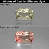 thumb image of 1ct Cushion-Cut Green/Pink Color-Change Diaspore (ID: 397486)
