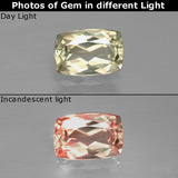 thumb image of 1ct Cushion-Cut Green to Pink Color-Change Diaspore (ID: 397492)